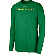 Nike Men's Oregon Ducks Green Football Dri-FIT Player Long Sleeve T-Shirt
