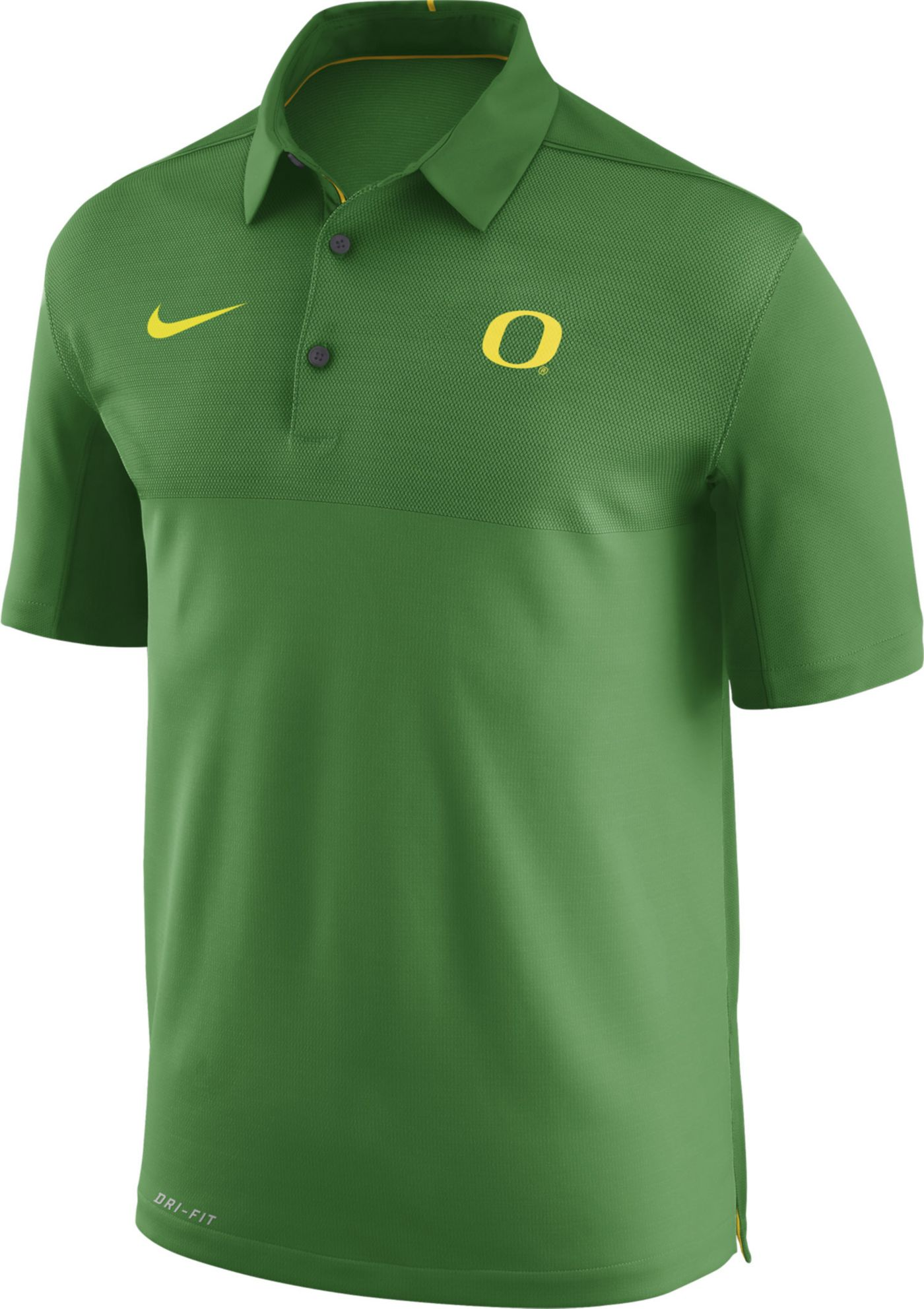 Nike Men's Oregon Ducks Apple Green Elite Football Sideline Polo