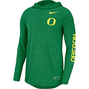 Nike Men's Oregon Ducks Green Marled Long Sleeve Hooded Sideline T-Shirt