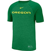 Nike Men's Oregon Ducks Green Raglan Sideline T-Shirt