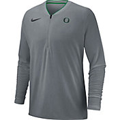Nike Men's Oregon Ducks Grey Coach Half-Zip Football Sideline Jacket