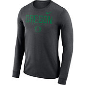 Nike Men's Oregon Ducks Grey Football Dri-FIT Facility Long Sleeve T-Shirt