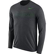 Nike Men's Oregon Ducks Grey Dri-FIT Legend Long Sleeve Sideline T-Shirt