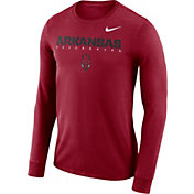 Nike Men's Arkansas Razorbacks Cardinal Football Dri-FIT Facility Long Sleeve T-Shirt