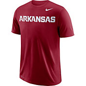 Nike Men's Arkansas Razorbacks Cardinal Wordmark T-Shirt