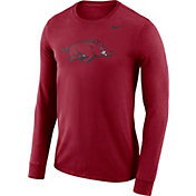 Nike Men's Arkansas Razorbacks Cardinal Dri-FIT Logo Long Sleeve Shirt
