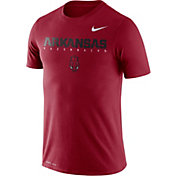 Nike Men's Arkansas Razorbacks Cardinal Football Dri-FIT Facility T-Shirt