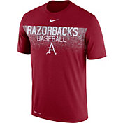 Nike Men's Arkansas Razorbacks Cardinal Dri-Fit Team Issue Performance Baseball T-Shirt