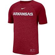 Nike Men's Arkansas Razorbacks Cardinal Raglan Sideline T-Shirt