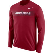Nike Men's Arkansas Razorbacks Cardinal Dri-FIT Legend Long Sleeve Sideline T-Shirt