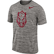 Nike Men's Arkansas Razorbacks Charcoal Football Dri-FIT Travel T-Shirt