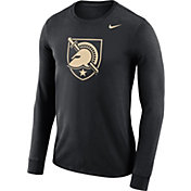 Nike Men's Army West Point Black Knights Army Black Dri-FIT Logo Long Sleeve Shirt