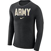 Nike Men's Army West Point Black Knights Army Black Marled Dri-FIT Long Sleeve Shirt