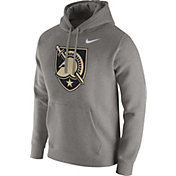 Nike Men's Army West Point Black Knights Grey Club Fleece Hoodie