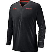 Nike Men's Oregon State Beavers Coach Half-Zip Football Sideline Black Jacket