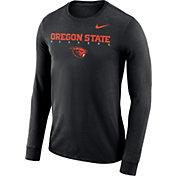 Nike Men's Oregon State Beavers Football Dri-FIT Facility Long Sleeve Black T-Shirt
