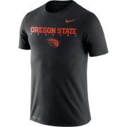 Nike Men's Oregon State Beavers Football Dri-FIT Facility Black T-Shirt