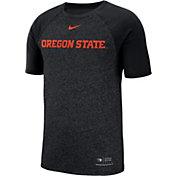Nike Men's Oregon State Beavers Raglan Sideline Black T-Shirt