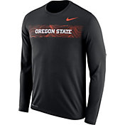 Nike Men's Oregon State Beavers Dri-FIT Legend Long Sleeve Sideline Black T-Shirt
