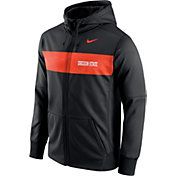 Nike Men's Oregon State Beavers Black Therma-FIT Full-Zip Sideline Hoodie