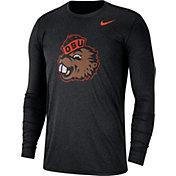 Nike Men's Oregon State Beavers Heathered Vault Tri-Blend Black Long Sleeve Tee