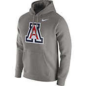 Nike Men's Arizona Wildcats Grey Club Fleece Hoodie