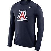 Nike Men's Arizona Wildcats Navy Dri-FIT Logo Long Sleeve Shirt