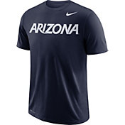 Nike Men's Arizona Wildcats Navy Wordmark T-Shirt