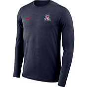 Nike Men's Arizona Wildcats Navy Football Dri-FIT Coach Long Sleeve T-Shirt
