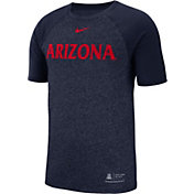 Nike Men's Arizona Wildcats Navy Raglan Sideline T-Shirt