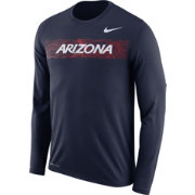 Nike Men's Arizona Wildcats Navy Dri-FIT Legend Long Sleeve Sideline T-Shirt