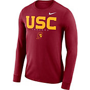 Nike Men's USC Trojans Cardinal Football Dri-FIT Facility Long Sleeve T-Shirt