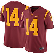 Nike Men's USC Trojans #14 Cardinal Game Football Jersey