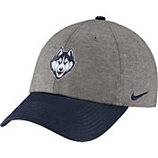 Nike Men's UConn Huskies Grey/Blue Heritage86 Heather Adjustable Hat