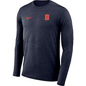 Nike Men's Syracuse Orange Blue Football Dri-FIT Coach Long Sleeve T-Shirt