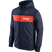 Nike Men's Syracuse Orange Blue Therma-FIT Full-Zip Sideline Hoodie