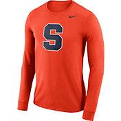 Nike Men's Syracuse Orange Orange Dri-FIT Logo Long Sleeve Shirt