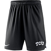 Nike Men's TCU Horned Frogs Knit Football Performance Black Shorts