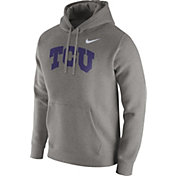 Nike Men's TCU Horned Frogs Grey Club Fleece Hoodie