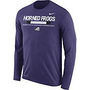 Nike Men's TCU Horned Frogs Purple Football Sideline Staff Legend Long Sleeve Shirt