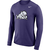 Nike Men's TCU Horned Frogs Purple Dri-FIT Logo Long Sleeve Shirt