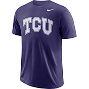Nike Men's TCU Horned Frogs Purple Wordmark T-Shirt