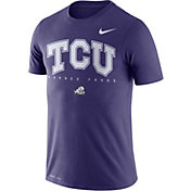 Nike Men's TCU Horned Frogs Purple Football Dri-FIT Facility T-Shirt