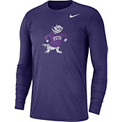 Nike Men's TCU Horned Frogs Heathered Purple Vault Tri-Blend Long Sleeve Tee
