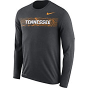Nike Men's Tennessee Volunteers Grey Dri-FIT Legend Long Sleeve Sideline T-Shirt