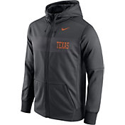 Nike Men's Texas Longhorns Anthracite Therma-FIT Full-Zip Sideline Hoodie
