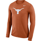 Nike Men's Texas Longhorns Burnt Orange Dri-FIT Logo Long Sleeve Shirt
