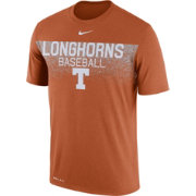 Nike Men's Texas Longhorns Burnt Orange Dri-Fit Team Issue Performance Baseball T-Shirt