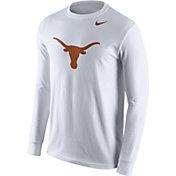 Nike Men's Texas Longhorns White Logo Long Sleeve Shirt