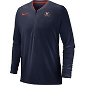 Nike Men's Virginia Cavaliers Blue Coach Half-Zip Football Sideline Jacket